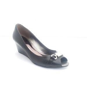 Coach Wedge Peep Toe Mule Shoes Women's 8 B